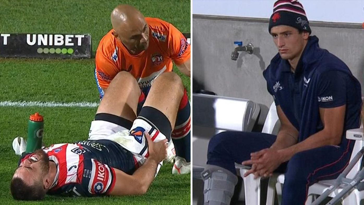 'Cursed' Roosters' disastrous injury toll continues to mount in bitter-sweet win over Knights