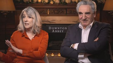 Phyllis Logan and Jim Carter talk to 9Honey Celebrity about making Downton Abbey the movie and a sequel