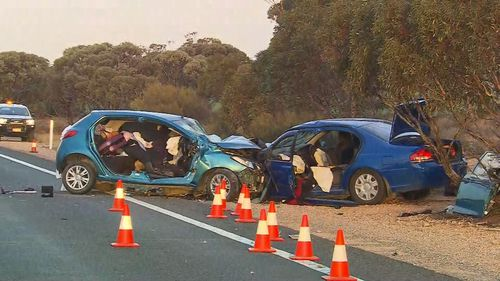 The fatal crash occurred on the Sturt Highway on Wednesday night.