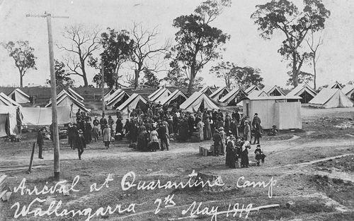 A quarantine site in Wallangarra, Queensland.