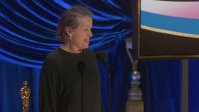 Frances McDormand wins Best Actress at The Oscars.
