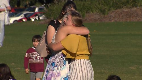 Earlier this week, a memorial was held to remember Larissa in Strathpine Park. Picture: 9NEWS