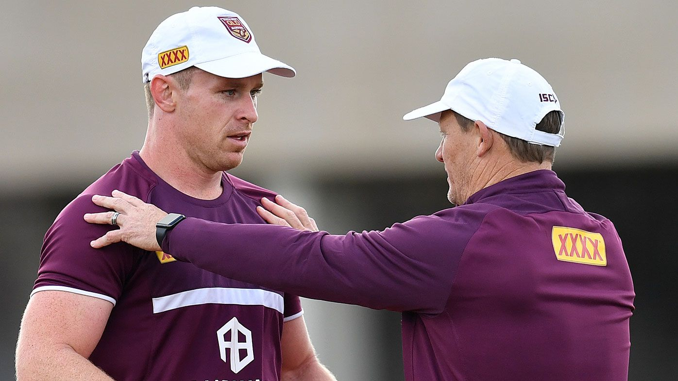 Michael Morgan (left) and Queensland coach Kevin Walters