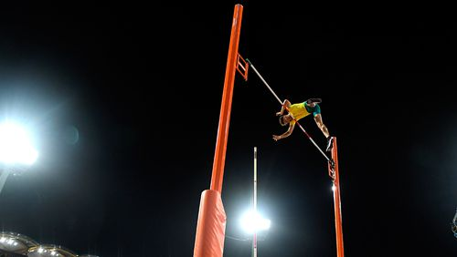 Kurtis Marschall has won the Commonwealth Games gold medal in the men's pole vault with a clutch final-attempt clearance at 5.70m. (AAP)
