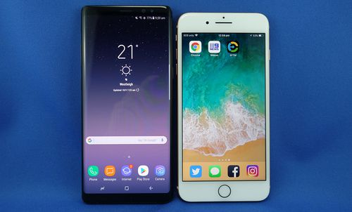 Samsung's Note 8 and Apple's iPhone 8 Plus both go on sale tomorrow.
