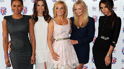 Spice Girls reunite to announce musical, Posh looks thrilled