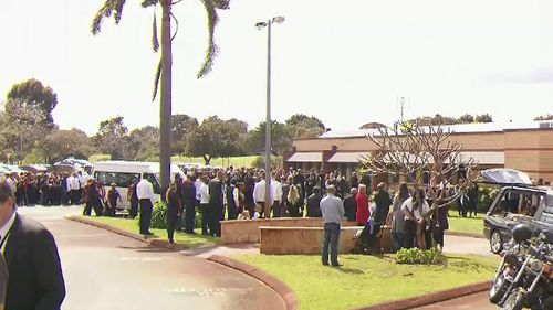 Trisjack Simpson's funeral was held today in Maylands. His friend Chris Drage will be farewelled tomorrow.