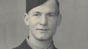 Tom Brown as a 19-year-old in 1943.