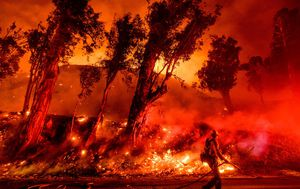 New wildfire rages in California amid easing wind conditions