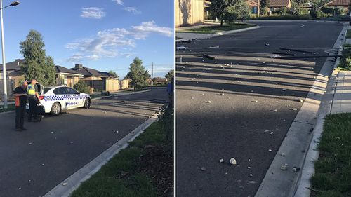 Garbage and debris was left strewn over the street. (9NEWS)
