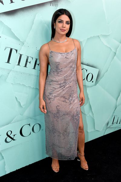 Priyanka Chopra attends the Tiffany Blue Book Collection launch at Studio 525 on October 9, 2018 in New York City.