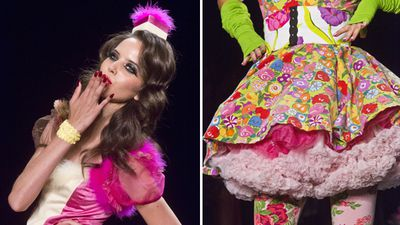The Spring 2016 Betsey Johnson collection stayed true to form - providing plenty of fun, colour and eccentricity. (AAP)