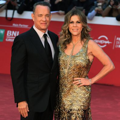 Actor Tom Hanks and his wife, Rita Wilson