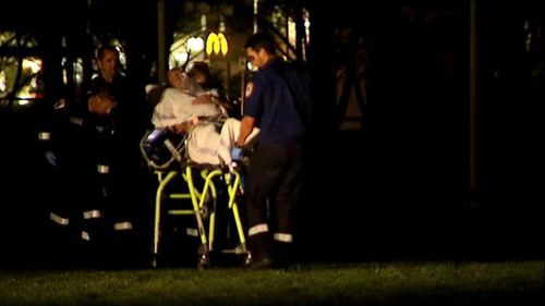 The man was airlifted to hospital and remains in a stable condition. (9NEWS)
