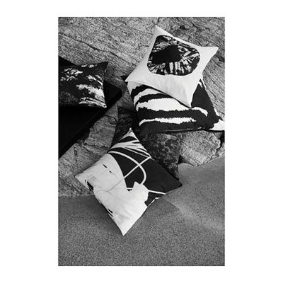 SVARTAN cushion covers in black, grey or black & white $10.