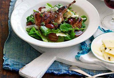 Grilled vincotto quail