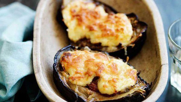 Eggplant braised lamb recipe. Image: Gourmet Traveller