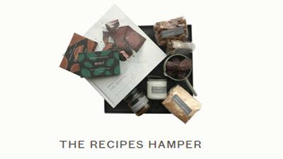"<p>For the chocoholic dad who loves to cook, this one has the Pana Chocolate cookbook, along with the ingredients for some of their signature raw, vegan chocolates... and some to snack on besides.&nbsp;</p> <p>-&nbsp;<a href=""http://www.panachocolate.com/online-shop-100/hampers.html"" target=""_top"">Pana Chocolate's recipes hamper</a>, $89.90 from Pana Chocolate</p>"