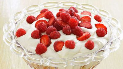 """Click through for our&nbsp;<a href=""""http://kitchen.nine.com.au/2016/05/16/20/02/ultimate-trifle"""" target=""""_top"""">Ultimate trifle</a>&nbsp;recipe"""