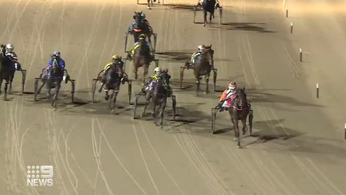 The mother-of-two caused an upset taking out the $100,000 group 1 race at Menangle Park in Campbelltown.