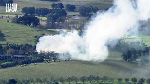 200625 Victoria Yarra Valley Balgownie Estate winery fire emergency