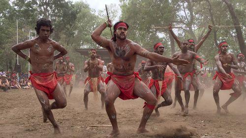 Aboriginal dancers from Kuranda at the Laura Dance Festival. (AAP)