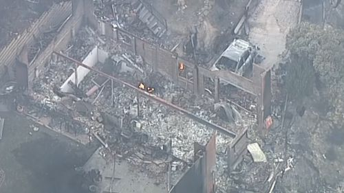 More than 150 firefighters are still on the ground fighting the blaze. (9NEWS)