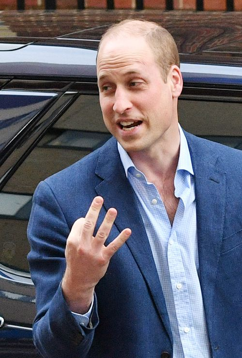 "Prince William joked that he had ""thrice the worry now"" with his latest arrival coming. (AAP)"