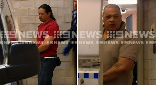 Peter and Henry Vaiusu appeared in court today. Picture: 9NEWS