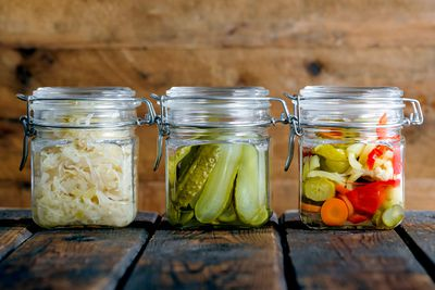 Homemade pickles, vinegar, salad dressings or infused extra virgin olive oil