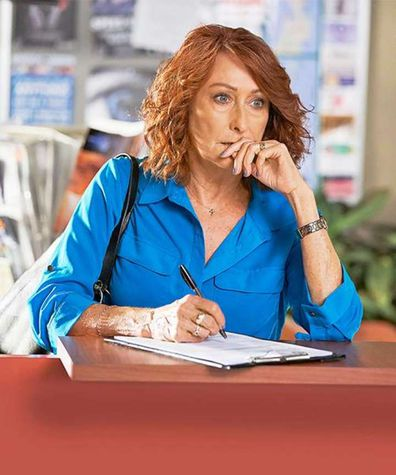 Lynne McGranger, Home and Away, filming, on set