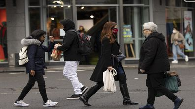 Pedestrians are seen at Bondi Junction on June 21, 2021 in Sydney, Australia. A cluster of COVID-19 cases in Sydney's eastern suburbs continues to grow, causing the government to impose restrictions including mandatory indoor mask-wearing in several jurisdictions. NSW Premier Gladys Berejiklian is urging people to get tested to stop the spread and limit further restrictions.