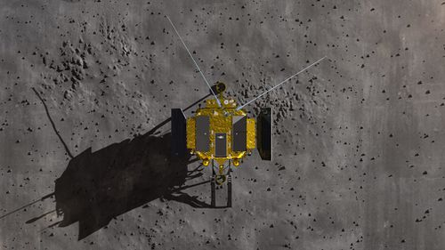 To date, only artists' impressions have been released of the spacecraft on the side of the moon that faces away from Earth.