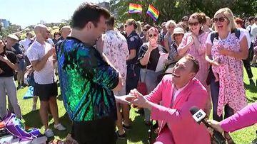 9RAW: Sydney man celebrates with proposal to boyfriend on live TV