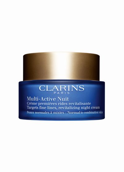 "<a href=""https://www.google.com.au/webhp?sourceid=chrome-instant&rlz=1C1NHXL_enAU703AU703&ion=1&espv=2&ie=UTF-8#q=Clarins+Multi-Active+Night+Cream%2C+%2468%2C+clarins.com.au"" target=""_blank"">Clarins Multi-Active Night Cream, $68, clarins.com.au</a>"