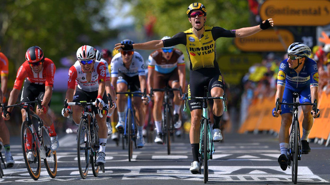 Caleb Ewan, Michael Matthews edged out in Tour de France Stage 10 sprint