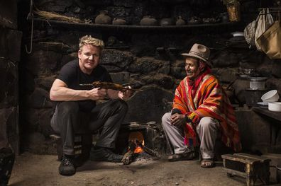 Gordon Ramsay eats guinea pig in Peru