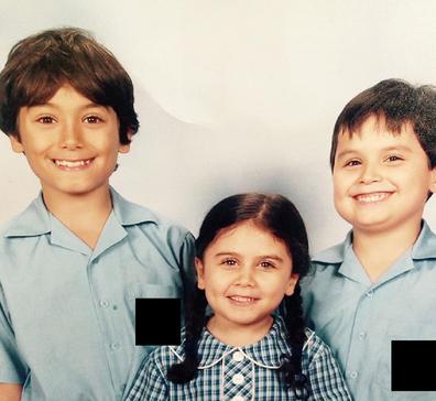 Jo Abi children in school uniforms