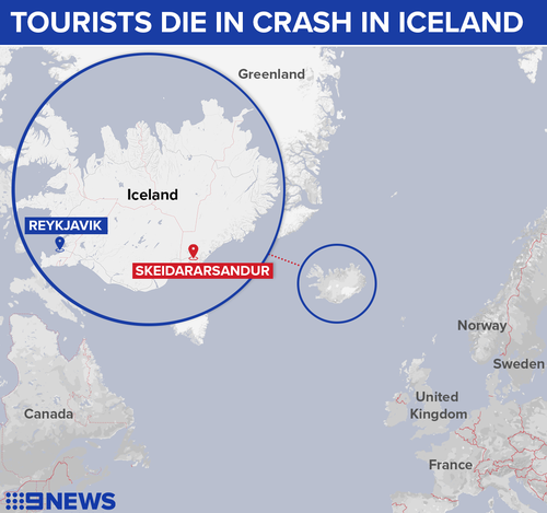 Seven people from two British families plunged off a bridge in the near freezing Iceland terrain.