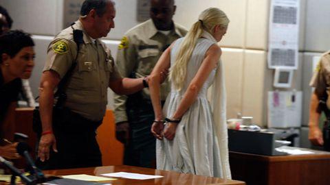 Lindsay Lohan handcuffed, taken into custody