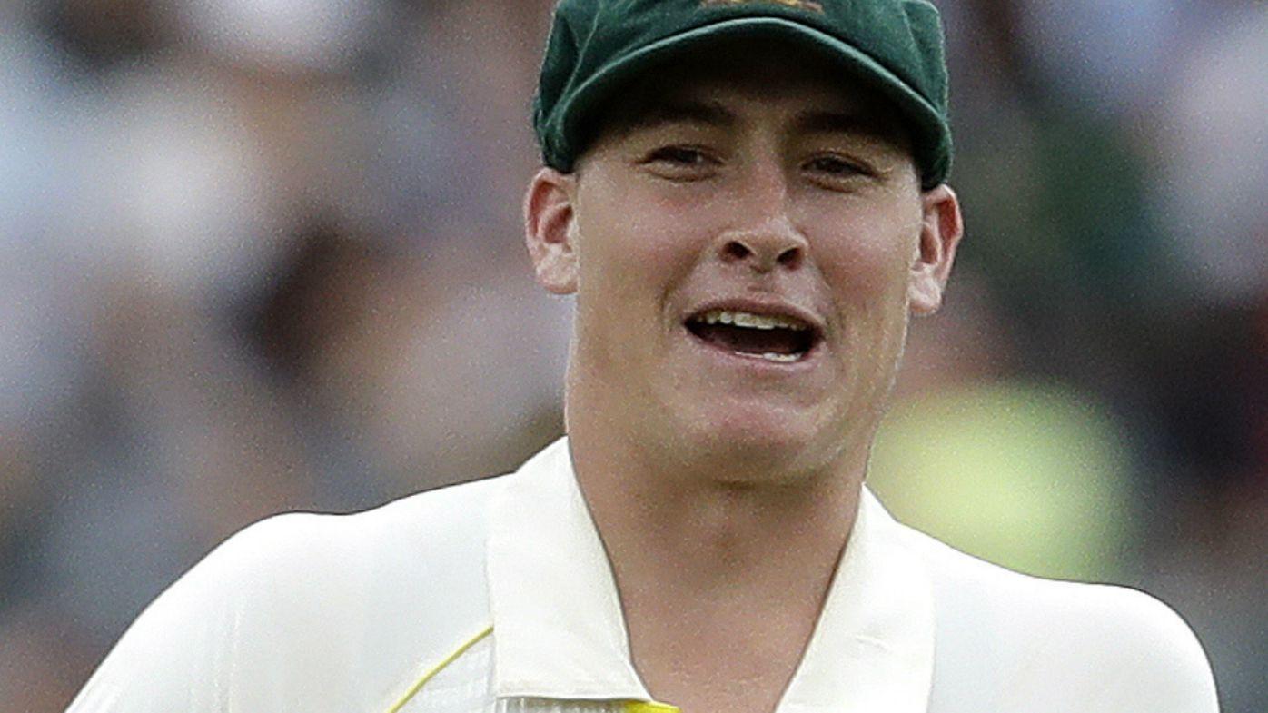 Australia's Matt Renshaw cleans the ball