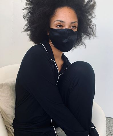 Sleepwear brand Papinelle is creating silk masks made from excess fabrics.