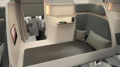 """Toyota Boshoku describes the capsules as """"a multi-purpose room that matches the experience of a business class seat."""""""