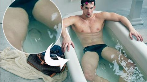Is that a fart bubble in Michael Phelps' new Louis Vuitton ad?