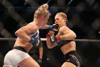 But she was always in control of the bout, landing blow after blow against Rousey.