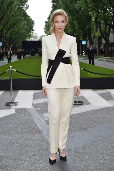 Cate Blanchett wearing Giorgio Armani at the Giorgio Armani 40th Anniversary Silos Opening And Cocktail Reception in Italy, 2015