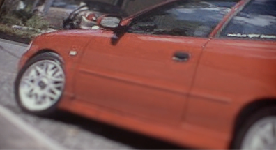The red car became the focal point for the investigation (Image above a reconstruction)