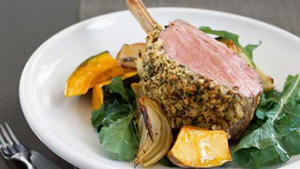 Rack of veal with rosemary and mustard crust