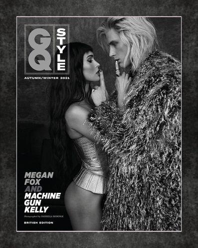 Megan Fox and Machine Gun Kelly on the cover of British GQ