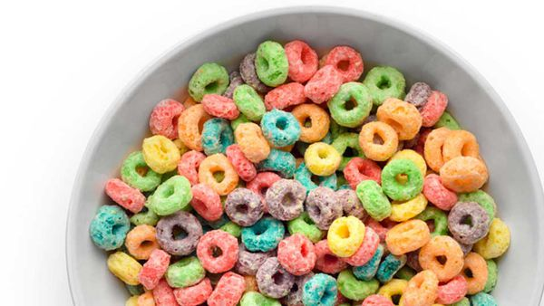 Colourful cereal Fruit Loops (Froot Loops)